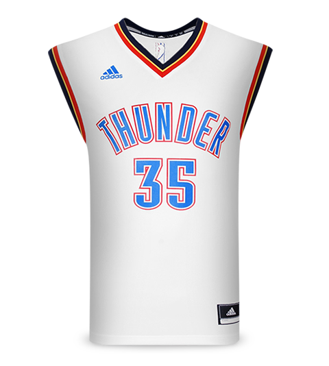 Regata Adidas NBA OKC Thunder Home 2015 35 Durant