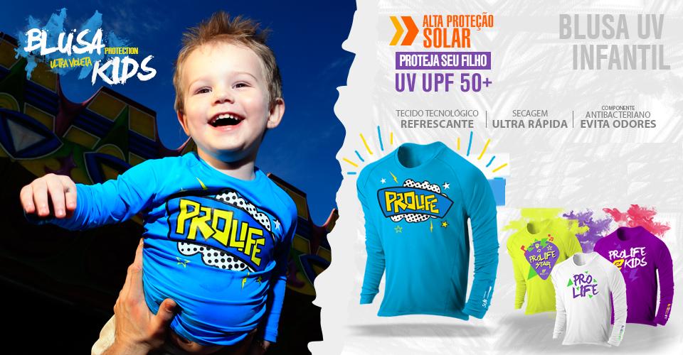 Blusa Infantil Sun Protection Prolife 06 anos - Proteção Solar UV ... 24aeb0f7434