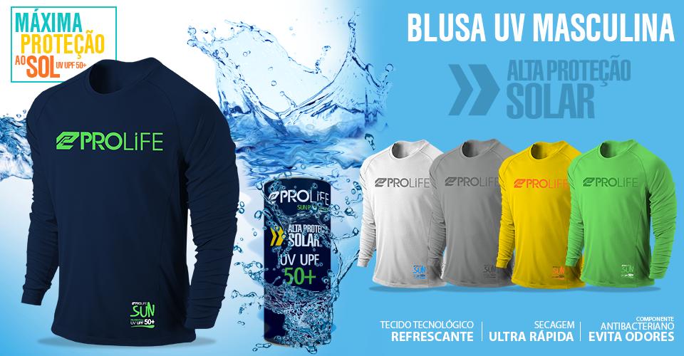 Blusa Masculina Sun Protection Prolife Branca - Proteção Solar UV UPF 50+ -  Radical Peças - Peças para Jet Ski e Motor de Popa a86e3b32957