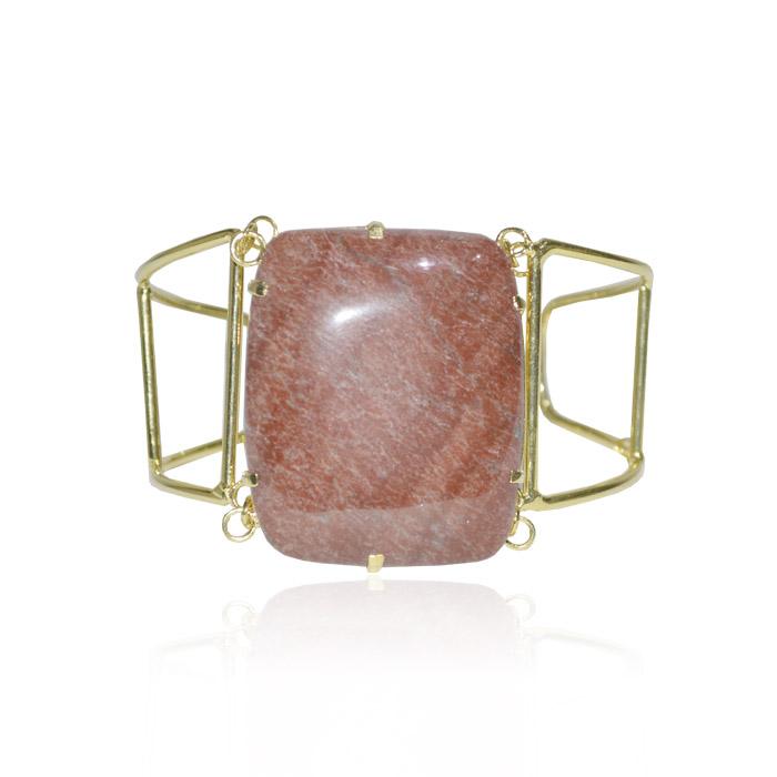 bracelete com pedra natural