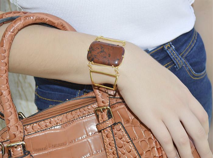 bracelete de pedra natural