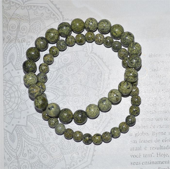 pulseira de jaspe cobra esfera