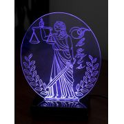 Lumin�ria Illusion 3D Acr�lico LED - Advocacia