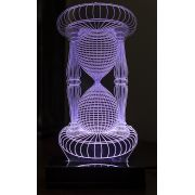 Lumin�ria Illusion 3D Acr�lico LED - Ampulheta
