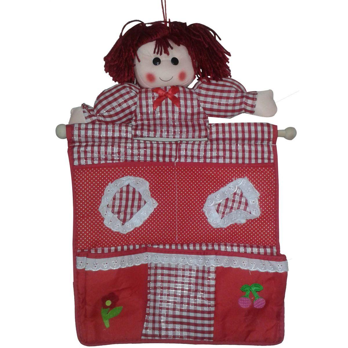 Porta Objetos Organizador Bonequiha com 4 bolsos - Frete Grátis.