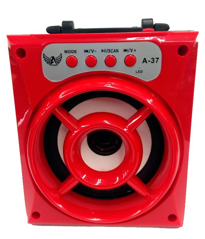 Caixa de Som Recarregável com Bluetooth + Rádio A - 37 - Frete Grátis
