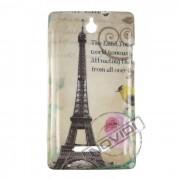 Capa Personalizada Cart�o Postal Paris para o Sony Xperia E - Modelo 2