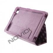 Capa Smart Cover Dobrav�l com Bolinhas Samsung Galaxy TabPro 8.4 T320 - Cor Roxa / Branca