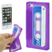 Capa Personalizada Fita Cassete para Apple iPhone 5 - Roxo