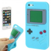 Capa Retro Gameboy para Apple iPhone 5 - Azul Claro