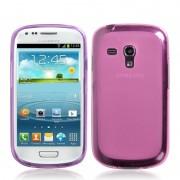 Capa de TPU Premium para Samsung Galaxy S III Mini I8190 - Rosa