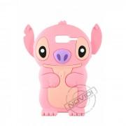 Capa Desenho Animado Stitch 3D para Motorola Razr D3 XT919 XT920 - Cor Rosa