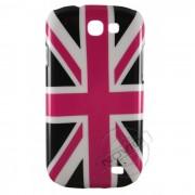 Capa Personalizada Bandeira da Inglaterra para Galaxy Express I8730 - Cor Rosa e Preta