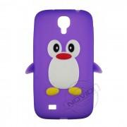 Capa Personalizada Pinguim para Samsung Galaxy S4 - Cor Roxo