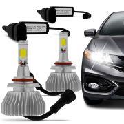 Kit L�mpada Super Led Headlight H11 6000K 12V e 24V Efeito Xenon
