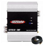 M�dulo Amplificador Soundigital SD700.1D 2ohms + Brinde 1 Cabo RCA de 5m
