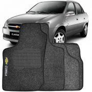 Tapete Automotivo Personalizado Carpete Chevrolet Corsa Classic 03 at� 13 Grafite Jogo 4 pe�as