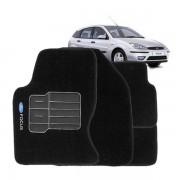 Tapete Automotivo Personalizado Carpete Focus Preto Jogo 4 pe�as