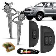 Kit Vidro El�trico Dianteiro Sensorizado Toyota Hilux 2 e 4 Portas 2005 em diante