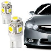L�mpada 5 Leds Smd Ping�o Lanterna Dianteira e Pisca Par