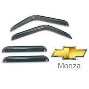 Calha de Chuva Acr�lica Mar�on Adesiva Chevrolet Monza Tubar�o 4 Portas GM057