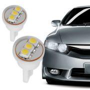 L�mpada Kx3 3 Leds Ping�o 12V Lanterna Dianteira Super Branca - Par