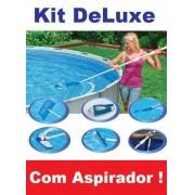 Kit de Limpeza Intex DELUXE com Aspirador Peneira Escova Cabo #28003