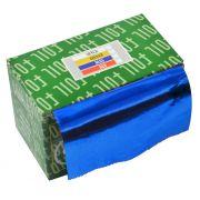 Papel Alum�nio Azul Para Cabelos Rolo 16 Micras - 01 Unidade