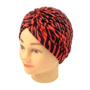 Touca Turbante Estampada Red Santa Clara - 01 Unidade