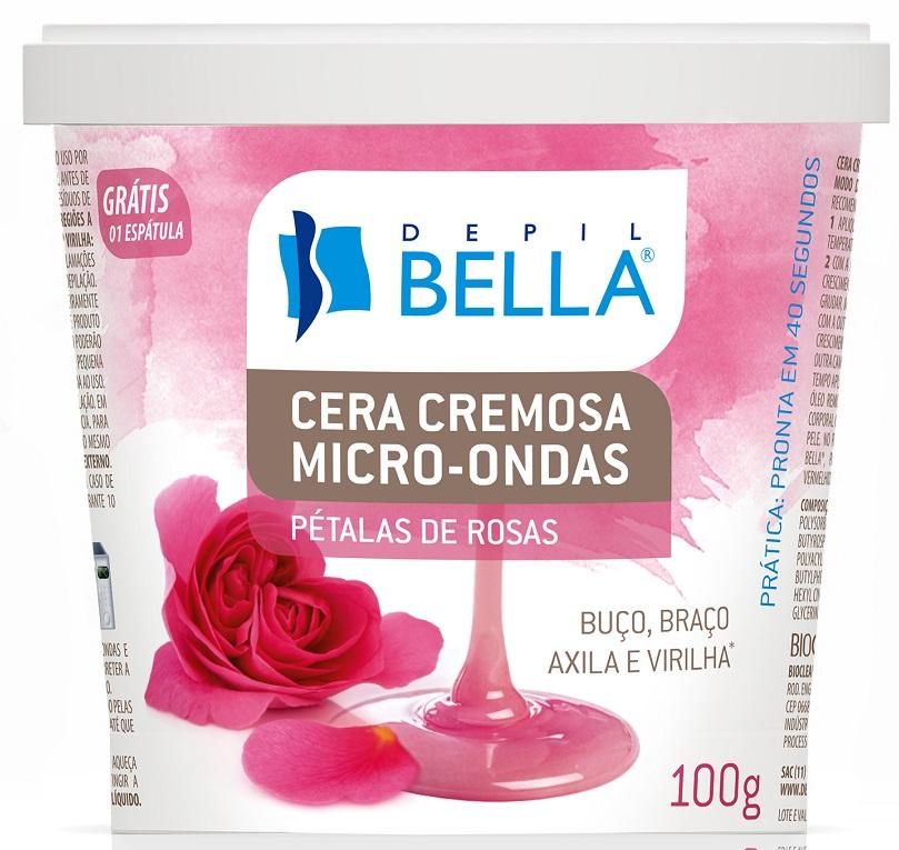 Cera Cremosa Micro - ondas Pétala De Rosas Depil Bella - 100g