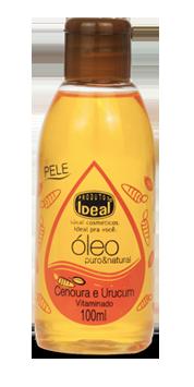 Óleo Puro Natural Cenoura e Urucum 100 ml - Ideal