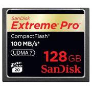 Cart�o de Mem�ria CompactFlash CF Sandisk 128GB Extreme Pro 600x