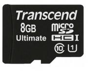 Cart�o de Mem�ria Transcend MicroSDHC 8GB Classe 10 Ultimate
