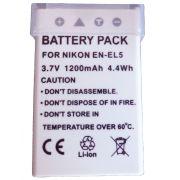 Bateria EN-EL5 para c�mera digital e filmadora Nikon Coolpix 3700, 4200, 5200, 5900, 7900, P3, P4, P