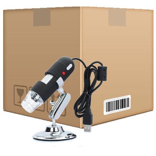 Kit 10 Microscópios Digital Usb Zoom 500x Camera 2.0 MP Profissional