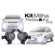 Kit Farol Milha Fiesta Ka 07 08 09 10 + L�mpada Gr�tis
