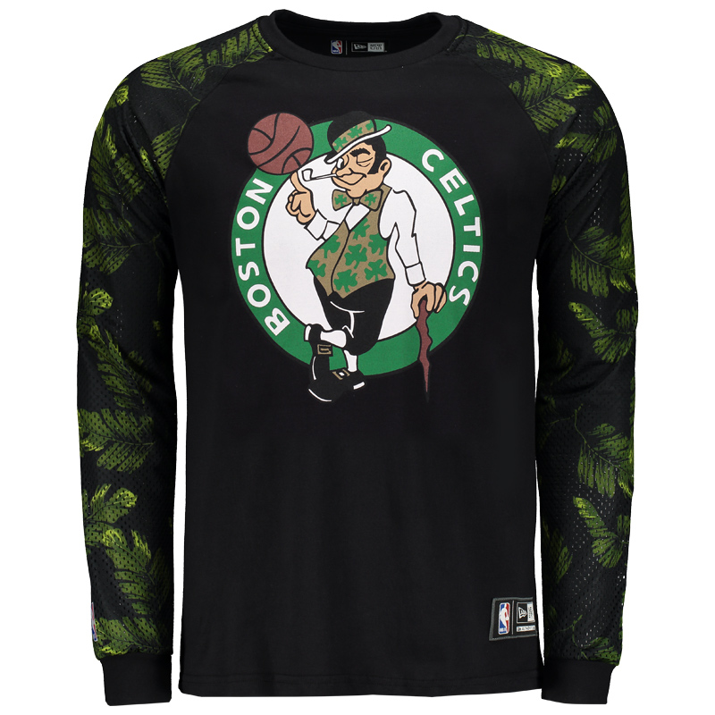Camiseta New Era NBA Boston Celtics Manga Longa - FutFanatics