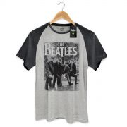 Camiseta Raglan Premium Masculina The Beatles Hey What�s That