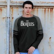 Blusa Manga Longa Masculina The Beatles Logo