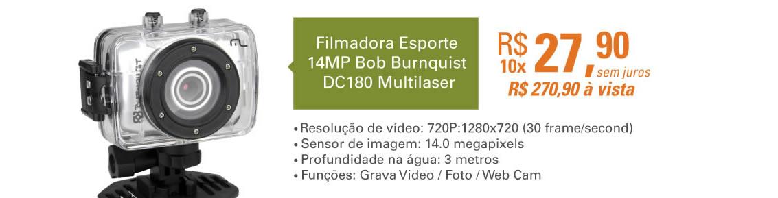 Filmadora Esporte 14MP Bob Burnquist DC180 Multilaser