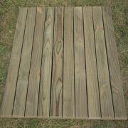 Deck Modular madeira tratada 100x100 cm (01 unidade)