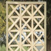 Treli�a Estrela de madeira tratada 60x60cm (01 unidade)