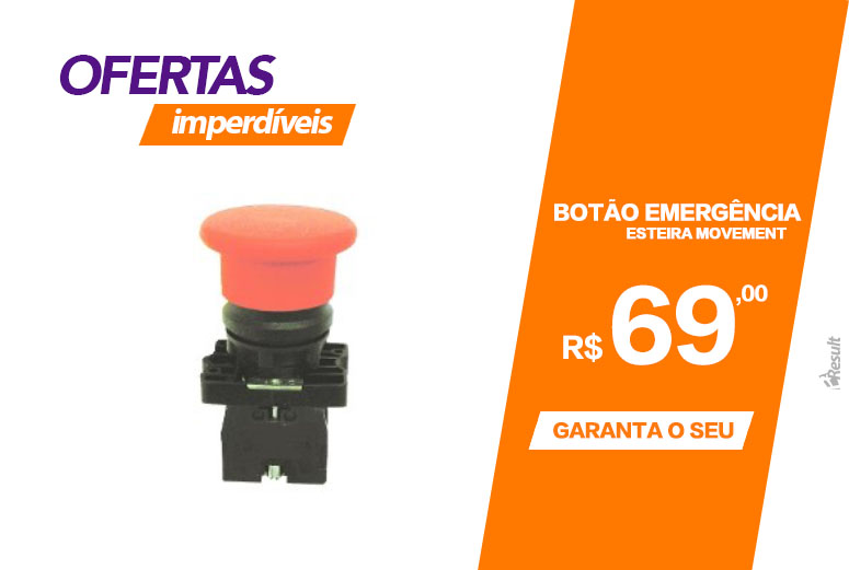 bot�o de emerg�ncia esteira movement