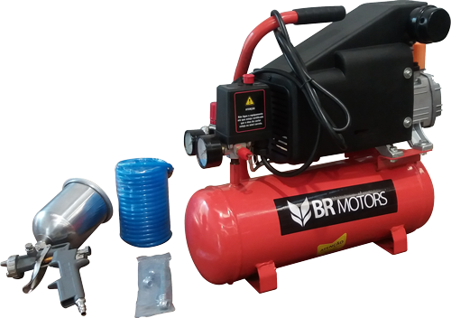 Motocompressor RDC 5.6 / 8 220v Mono C / Kit Pistola - BR Motors