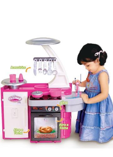 Cozinha Classic Infantil C / Fogão, Pia, Armário Cotiplás Ref. 1601
