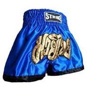 Cal��o / Short Muay Thai - Treino - Azul- Strike