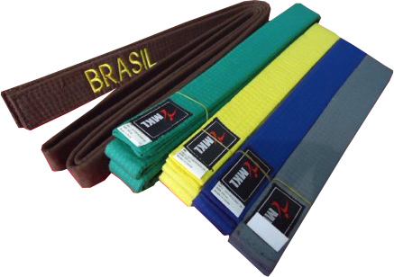Faixa Colorida Artes Marciais - Bordada Brasil - Adulto - MKL