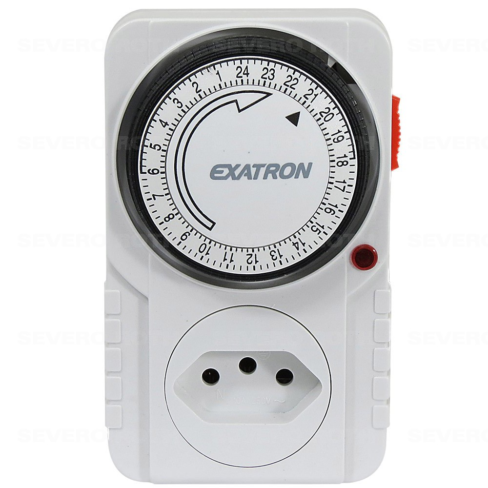 Timer temporizador analógico com até 96 programações p / ligar e desl. aparelhos - Exatron