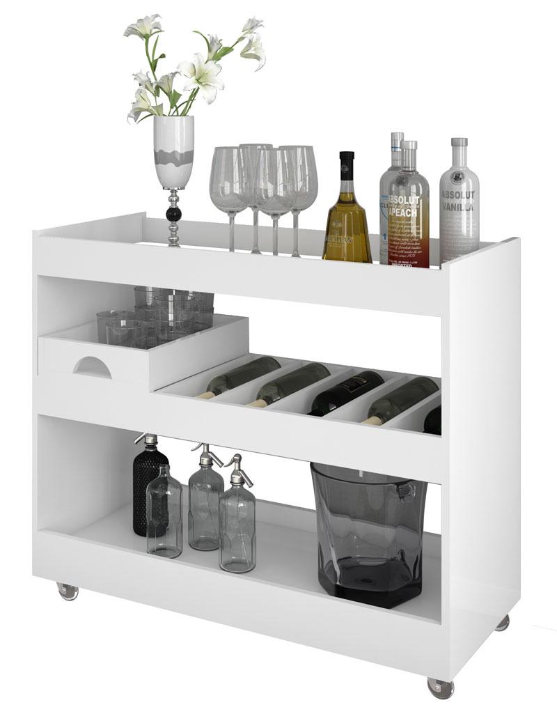 Armario Para Ropa Blanca Ikea ~ Aparador Bar Adega Jb 4030 Branco Jb Bechara R$ 269,99 em Mercado Livre