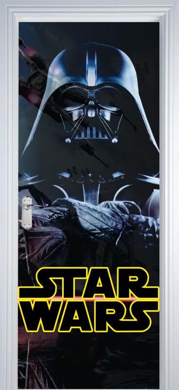 Adesivo Parede Dente De Leão ~ Adesivo Decorativo De Porta Star Wars 1 R$ 99,00 em Mercado Livre